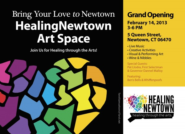 HealingNewtown Art Space Grand Opening, 3-6 PM Feb. 2/14/13