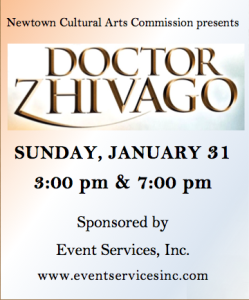 Doctor Zhivago, Jan.31, 2016 at 3 & 7 PM